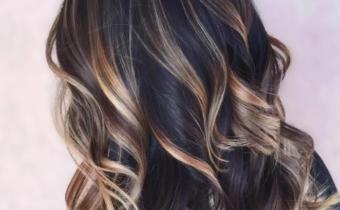 Окрашивание волос балаяж на темные волосы 2021