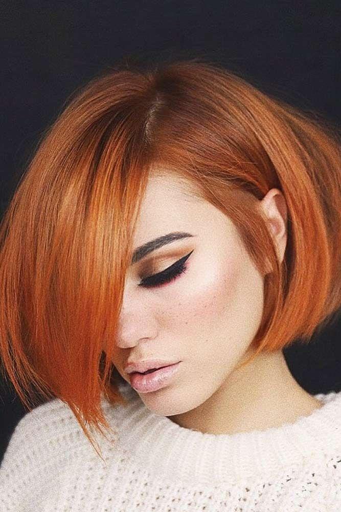 Модные рыжие оттенки волос