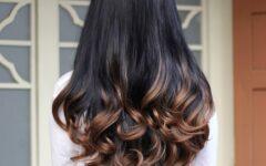 Окрашивание волос омбре на темные волосы 2021