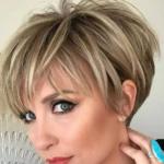 Модные женские стрижки на короткие волосы 2021 после 40 лет