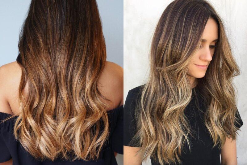 Сомбре на разную длину волос